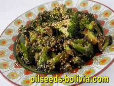 sesame broccoli dish
