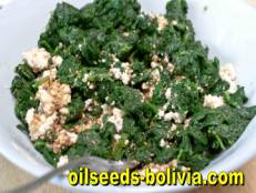 spinach with tofu sesame seeds